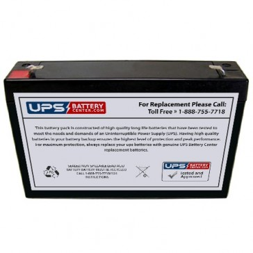 IBT 6V 8Ah BT8-6 Battery with F1 Terminals
