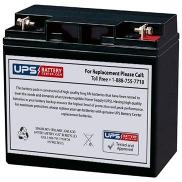 LCB 12V 22Ah EV22-12 Battery with F3 - Nut & Bolt Terminals