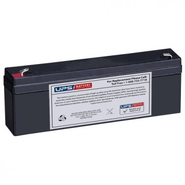 Leoch 12V 2.3Ah DJW12-2.3 Battery with F1 Terminals