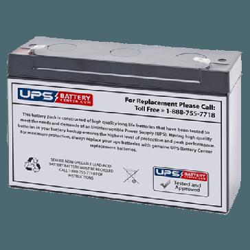 Leoch 6V 12Ah DJW6-12 Battery with F1 Terminals