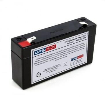 Leoch 6V 1.2Ah LP6-1.2 Battery with F1 Terminals