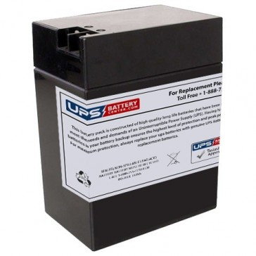 MK 6V 14Ah ES12-6 RND Battery with +F2 -F1 Terminals