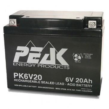 PK6V20B1 Peak Energy 6V 20Ah Battery