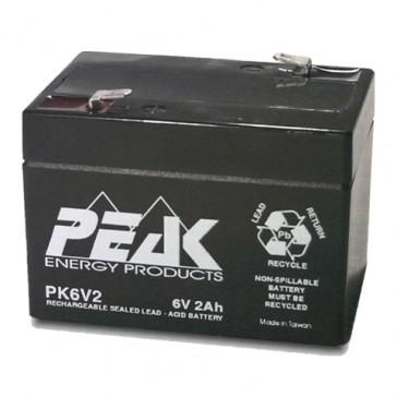 PK6V2F1 Peak Energy 6V 2Ah Battery