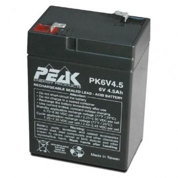 PK6V4.5F1 Peak Energy 6V 4.5 Ah Battery
