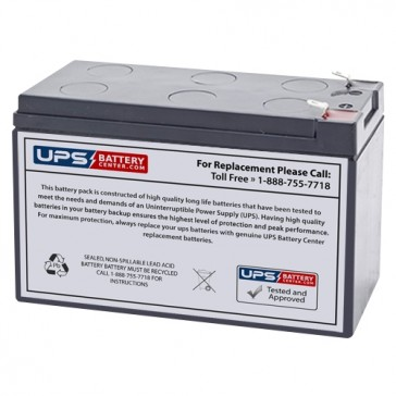 Power-Sonic 12V 8Ah PS-1280 Battery with F2 Terminals