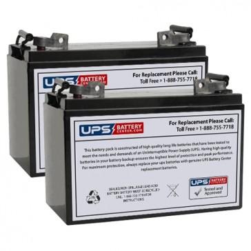 Speedzee Boomerbuggy Covered 24V 110Ah Battery Set