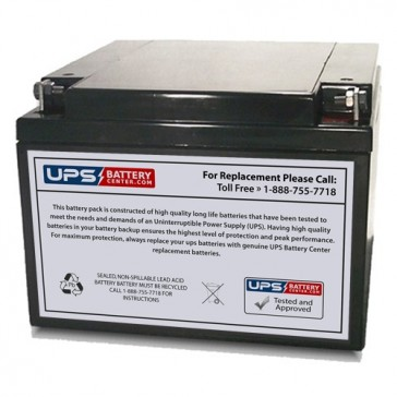 TLV12260 - 12V 26Ah Sealed Lead Acid Battery with F3 Terminals