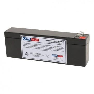 TLV1226F1S - 12V 2.6Ah Sealed Lead Acid Battery with F1 Terminals on Same Side