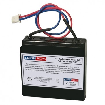 TLV605 - 6V 0.5Ah Sealed Lead Acid Battery with WL Terminals