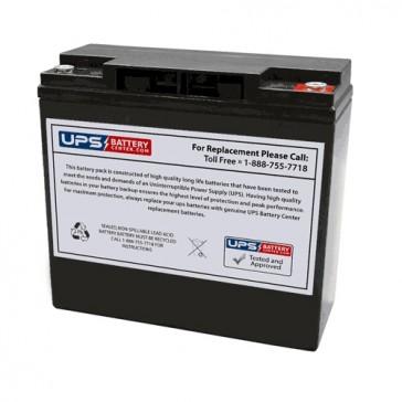 EV12200 - Tysonic 12V 20Ah Replacement Battery