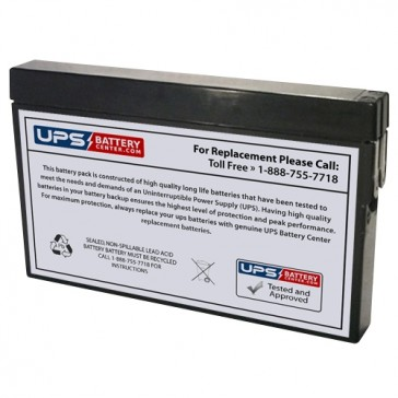 Universal 12V 2Ah UB1220-T Battery with Tab Terminals