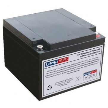 Universal 12V 26Ah UB12260FR Battery with M5 Insert Terminals
