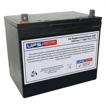 Universal 12V 75Ah UB12750 Battery with Z Post Terminals