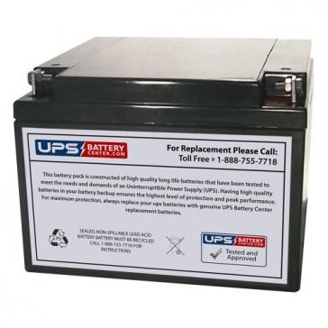 Yuasa 12V 24Ah NP24-12B Battery with F3 - Nut & Bolt Terminals