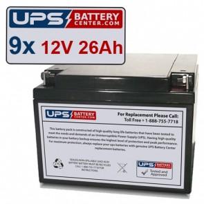 GE Medical Systems AMX IV Batteries - Set of 9