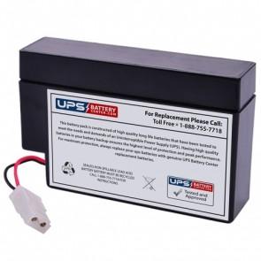 BatteryMart 12V 0.8Ah SLA-12V0-8 Battery with WL Terminals