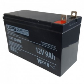 BatteryMart 12V 9Ah SLA-12V10-HI Battery with F3 Terminals