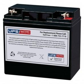 BatteryMart 12V 22Ah SLA-12V22 Battery with F3 Terminals