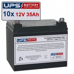 Best Power FERRUPS FD 10KVA Compatible Replacement Battery Set