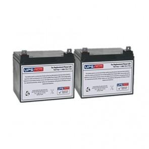 Best Power Fortress LI 2.0KVA BAT-0065 Compatible Replacement Battery Set