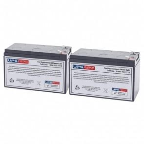 Best Power LI 750 (Fortress Rack Mount) Compatible Replacement Battery Set