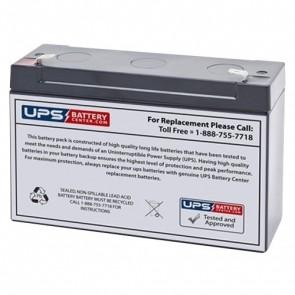 Bosfa 6V 12Ah EVX6-12 Battery with F1 Terminals