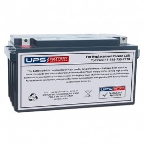 Bosfa 12V 65Ah GEL12-65 Battery with NB Terminals