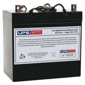 Bosfa 12V 55Ah SL12-55 Battery with NB Terminals