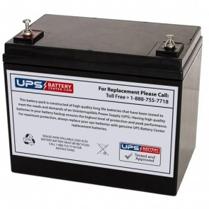 CCB Industrial 12V 75Ah 12CD-70 Battery with M6 Terminals