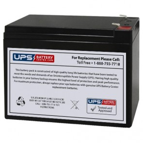 Diamec 12V 10Ah DM12-10 Battery with F1 Terminals