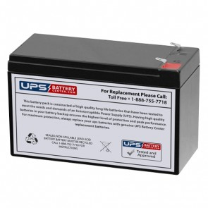 Diamec 12V 7.5Ah DM12-7.5 Battery with F1 Terminals