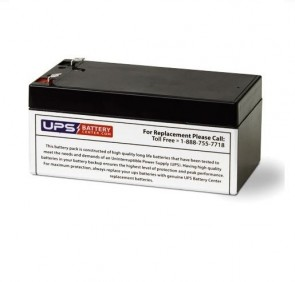 Eagle Picher 12V 3.2Ah CF12V2.6S1 Battery with F1 Terminals
