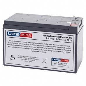 EaglePicher 12V 7.2Ah CF-12V7.2PP Battery with F1 Terminals