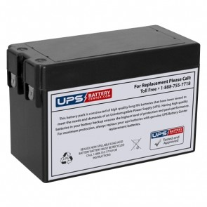 F&H 12V 2.5Ah UN2.5-12S Battery with F1 Terminals