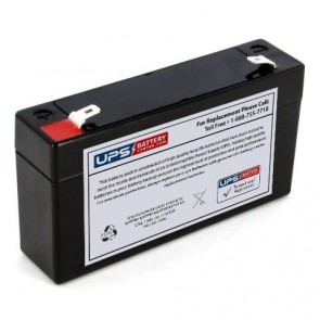 F&H 6V 1.2Ah UN1.2-6 Battery with F1 Terminals