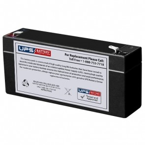 FULLRIVER 6V 3.5Ah HGL3.2-6 Battery with F1 Terminals