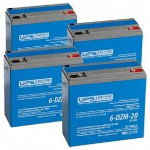 GIO Italia Premium 500W+ 48V 20Ah Battery Set