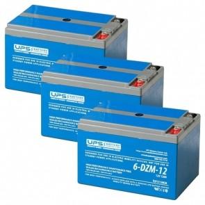 GIO Optimus 1000W 36V 12Ah Battery Set