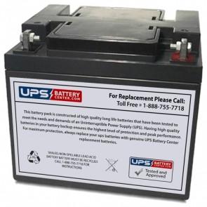 GS Portalac 12V 45Ah PE12V40AB2 Battery with F6 - Nut & Bolt Terminals