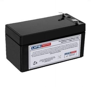 GS Portalac 12V 1.3Ah PE12V1.2 Battery with F1 Terminals