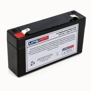 GS Portalac 6V 1.3Ah PE6V1.2F1 Battery with F1 Terminals