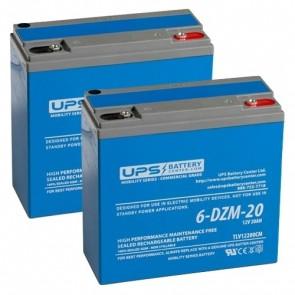 HCF Escort Mini 24V 20Ah Battery Set
