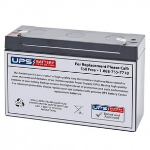 IBT 6V 10Ah BT10-6 Battery with F1 Terminals
