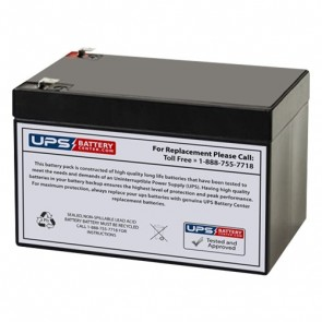 IBT 12V 12Ah BT12-12 Battery with F1 Terminals