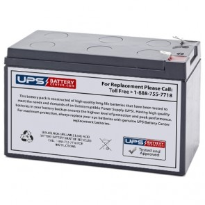 JohnLite 12V 7.2Ah 2960NS Battery with F1 Terminals