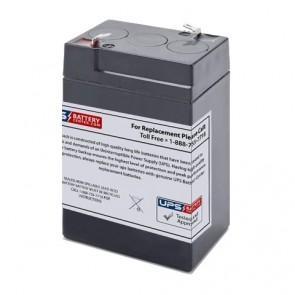 JohnLite 6V 5Ah 6 volt 5 Ah Battery with F1 Terminals
