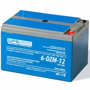 LCB 12V 12Ah 6-DZM-12 Battery with Threaded Insert Terminals