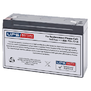 LCB 6V 12Ah SP12-6S Battery with F1 Terminals