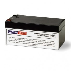Leoch 12V 3.2Ah LPX12-3.2 Battery with F1 Terminals